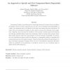An Approach to Specify and Test Component-Based Dependable Software