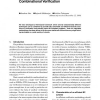 An Efficient Filter-Based Approach for Combinational Verification