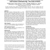 An empirical study of the use of visually enhanced voip audio conferencing: the case of IEAC