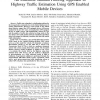 An ensemble Kalman filtering approach to highway traffic estimation using GPS enabled mobile devices