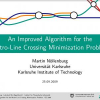 An Improved Algorithm for the Metro-line Crossing Minimization Problem