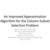 An Improved Approximation Algorithm for the Column Subset Selection Problem