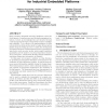 An integrated thermal estimation framework for industrial embedded platforms