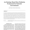 An Ontology-Based Data Mediation Framework for Semantic Environments