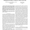 An Optimization Framework for Opportunistic Multipath Routing in Wireless Mesh Networks