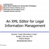 An XML Editor for Legal Information Management