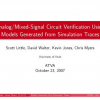 Analog/Mixed-Signal Circuit Verification Using Models Generated from Simulation Traces
