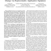 Analysis of application performance and its change via representative application signatures
