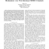 Analysis of Differential Unitary Space-Time Modulation over Non-Identical MIMO Channels