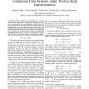 Analysis of Second-Order Modes of Linear Continuous-Time Systems under Positive-Real Transformations