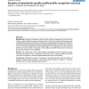 Analysis of superfamily specific profile-profile recognition accuracy
