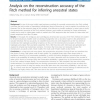 Analysis on the reconstruction accuracy of the Fitch method for inferring ancestral states