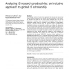 Analyzing IS research productivity: an inclusive approach to global IS scholarship