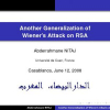 Another Generalization of Wiener's Attack on RSA