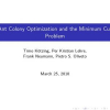 Ant colony optimization and the minimum cut problem