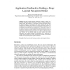 Application Feedback in Guiding a Deep-Layered Perception Model