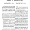 Application of adaptive probing for fault diagnosis in computer networks