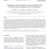 Application of deterministic and stochastic Petri-Nets for performance modeling of NoC architectures