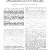 Application of machine learning approaches on quantitative structure activity relationships