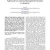 Application of Multi-Attribute Decision Making Approach to Learning Management Systems Evaluation