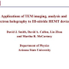 Applications of TEM imaging, analysis and electron holography to III-nitride HEMT devices