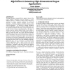 Applying randomized projection to aid prediction algorithms in detecting high-dimensional rogue applications