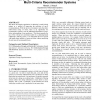 Applying relevant set correlation clustering to multi-criteria recommender systems