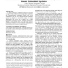 Architecture-level performance evaluation of component-based embedded systems