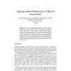 Argument Based Moderation of Benefit Assessment