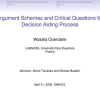 Argument Schemes and Critical Questions for Decision Aiding Process