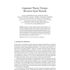 Argument Theory Change: Revision Upon Warrant
