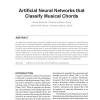 Artificial Neural Networks that Classify Musical Chords