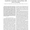 Asymmetric Cooperation Among Relays with Linear Precoding