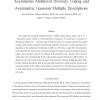 Asymmetric multilevel diversity coding and asymmetric Gaussian multiple descriptions