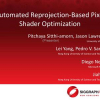 Automated reprojection-based pixel shader optimization