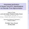 Automated Verification of Dense-Time MTL Specifications Via Discrete-Time Approximation