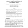 Automatic analysis of malware behavior using machine learning