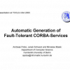 Automatic Generation of Fault-Tolerant CORBA-Services