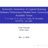Automatic generation of layered queuing software performance models from commonly available traces