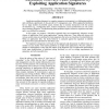 Automatic Software Fault Diagnosis by Exploiting Application Signatures