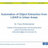 Automation of object extraction from LiDAR in urban areas