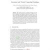 Autonomic and Trusted Computing Paradigms