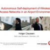 Autonomous Self-deployment of Wireless Access Networks in an Airport Environment
