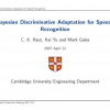 Bayesian discriminative adaptation for speech recognition