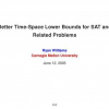 Better Time-Space Lower Bounds for SAT and Related Problems