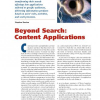 Beyond Search: Content Applications