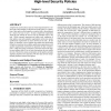 Beyond separation of duty: an algebra for specifying high-level security policies