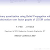Binary quantization using Belief Propagation with decimation over factor graphs of LDGM codes