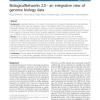 BiologicalNetworks 2.0 - an integrative view of genome biology data