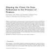 Blaming the client: on data refinement in the presence of pointers